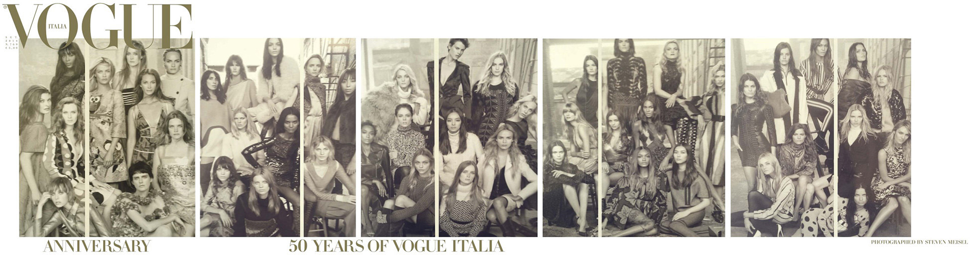 Vogue Italia is celebrating its 50th anniversary