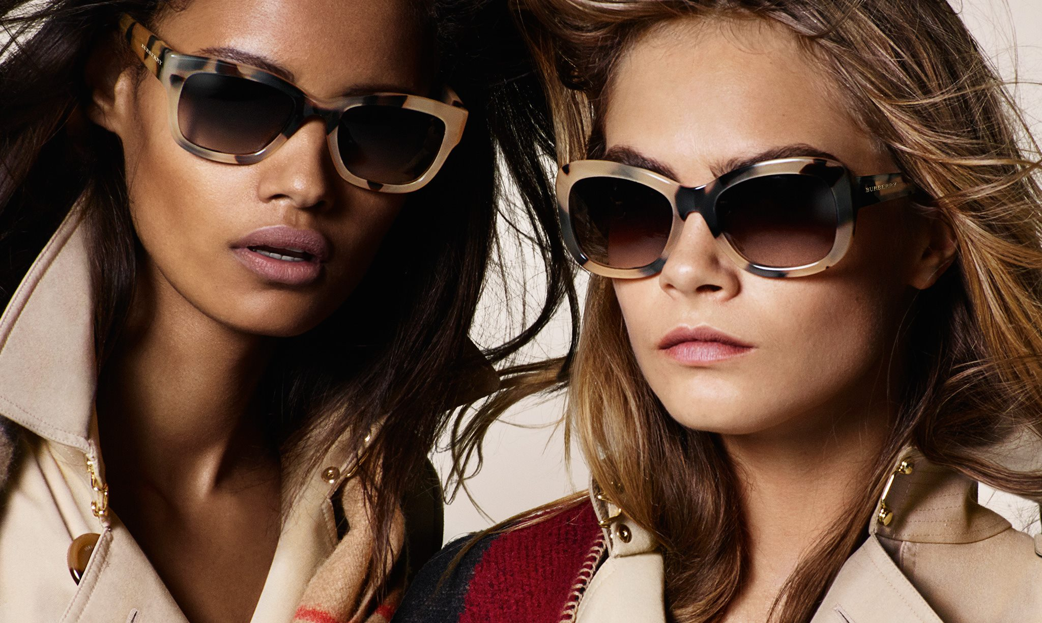 438f25a53c5c Cara Delevingne and Suki Waterhouse Burberry eyewear Autumn Winter 2014  campaign
