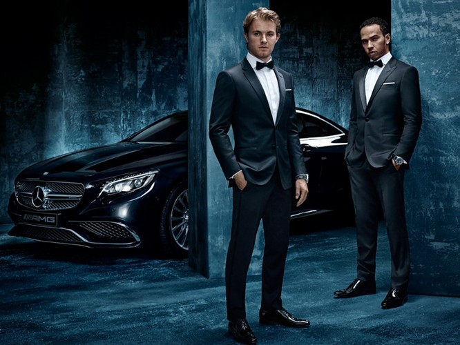 Formula One drivers Lewis Hamilton and Nico Rosberg