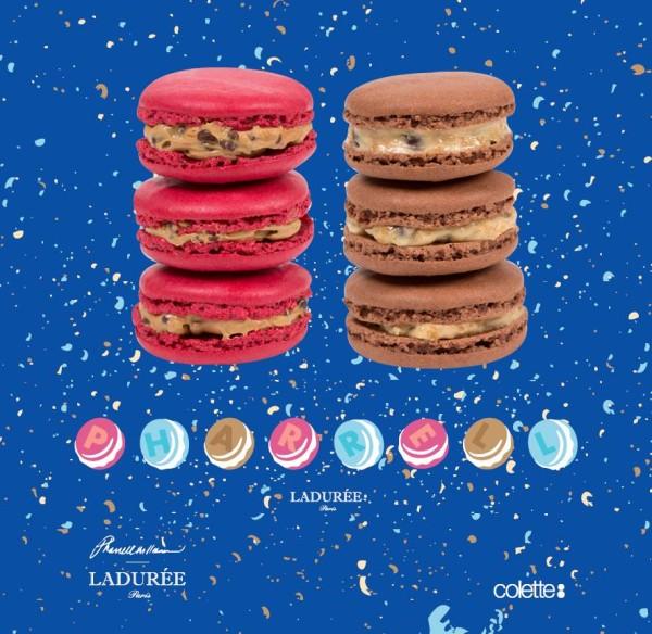 Laduree Pharrell Colette macarons