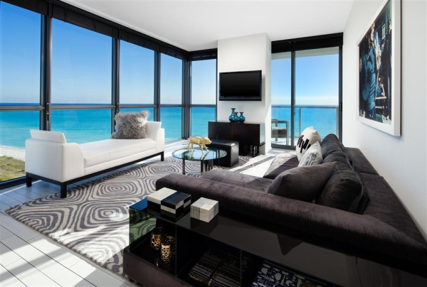 W South Beach living room