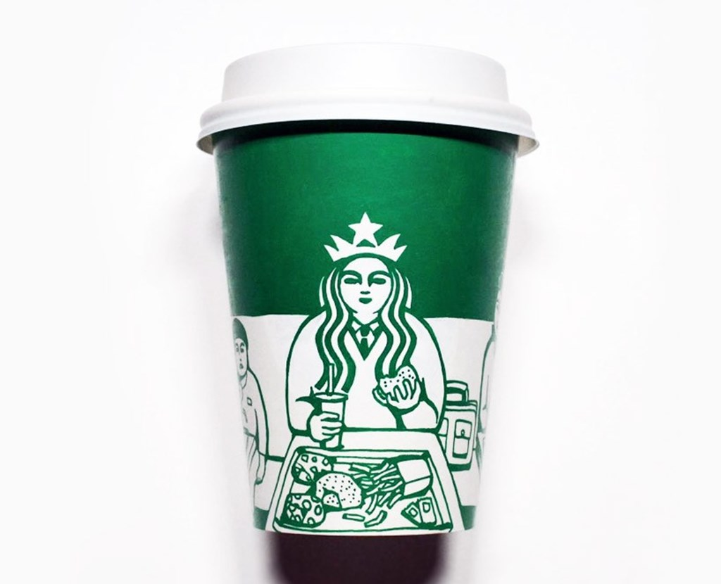 Artist Illustrated Starbucks Cups Soo Min Kim Designboom 06