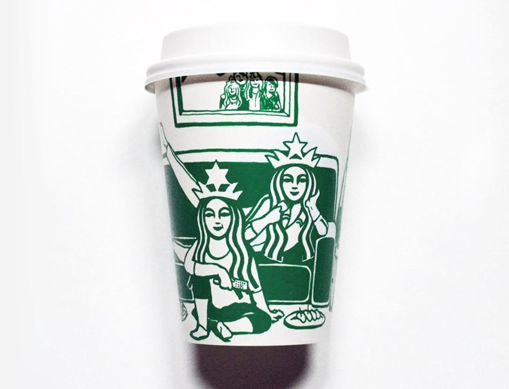 Artist Illustrated Starbucks Cups Soo Min Kim Designboom 07