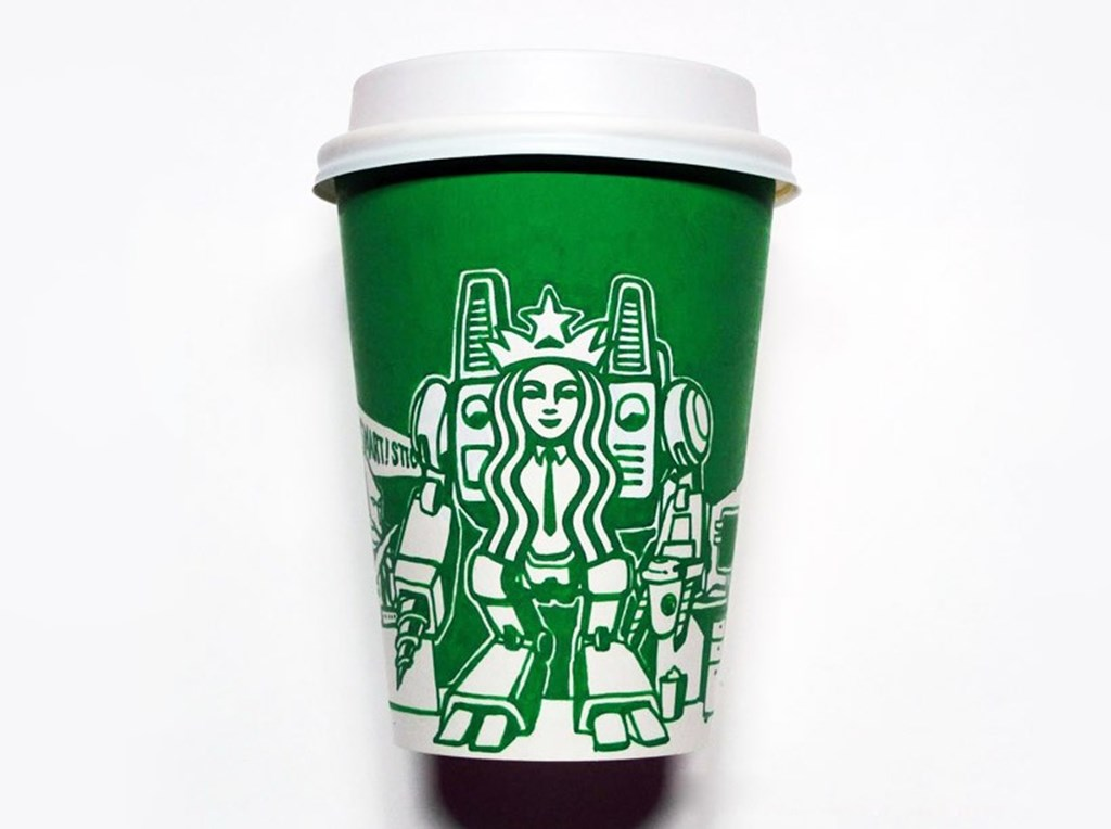 Artist Illustrated Starbucks Cups Soo Min Kim Designboom 16