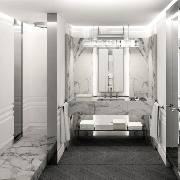 baccarat hotel bathroom