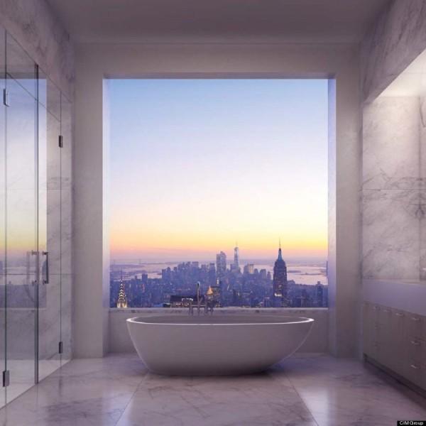 432 Park Avenue penthouse bathroom