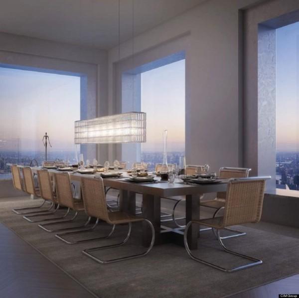 432 Park Avenue penthouse living room