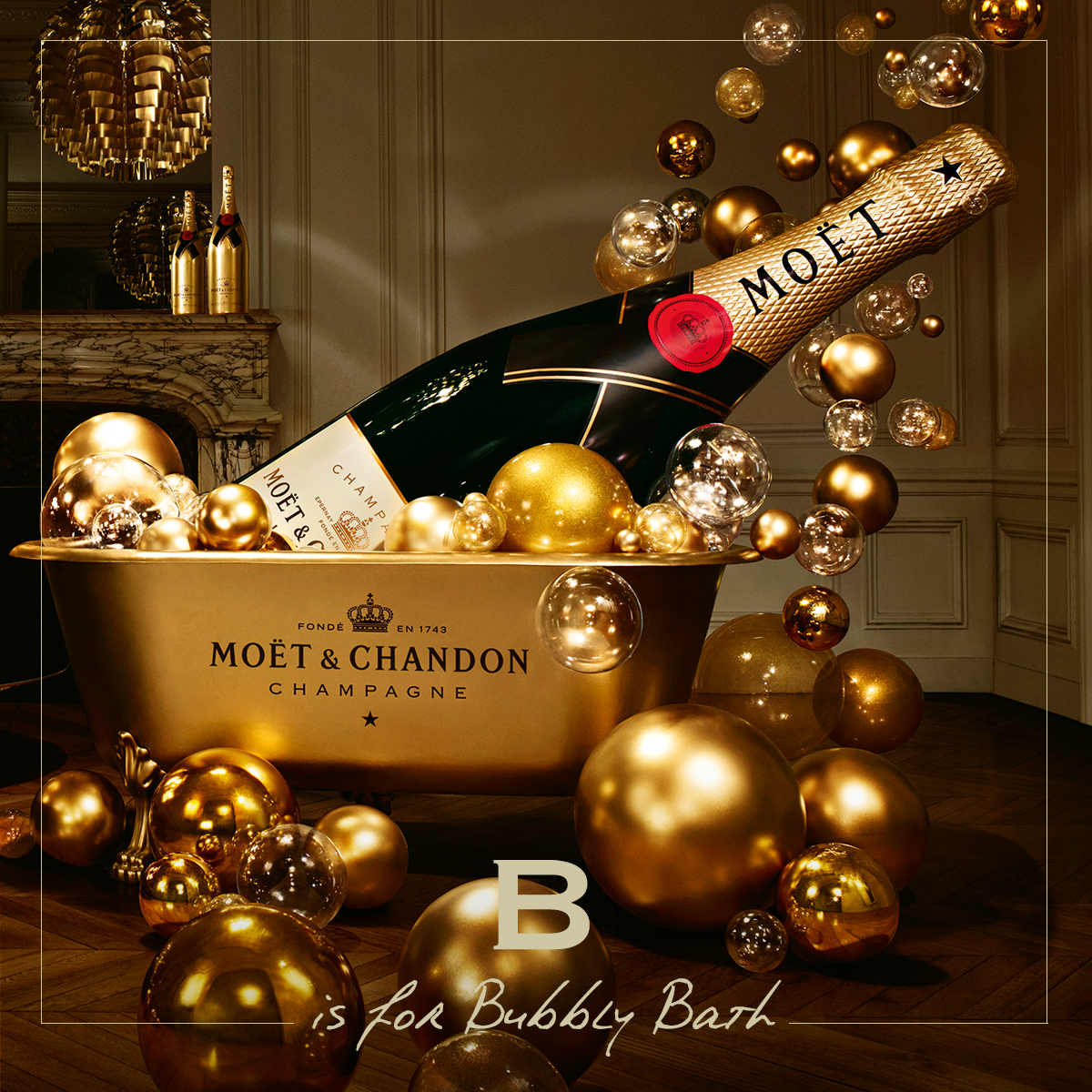 B for Bubbly Bath #MoetMoment