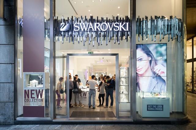 Swarovski's Milan flagship.