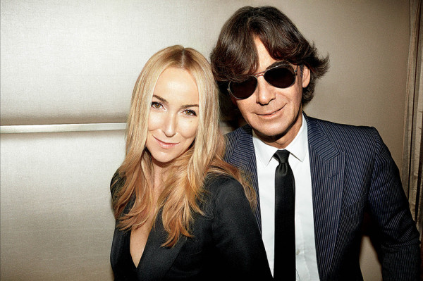 Frida Giannini with Patrizio di Marco