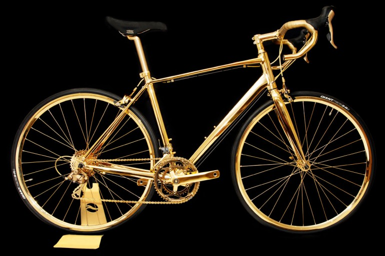Gold-plated bike