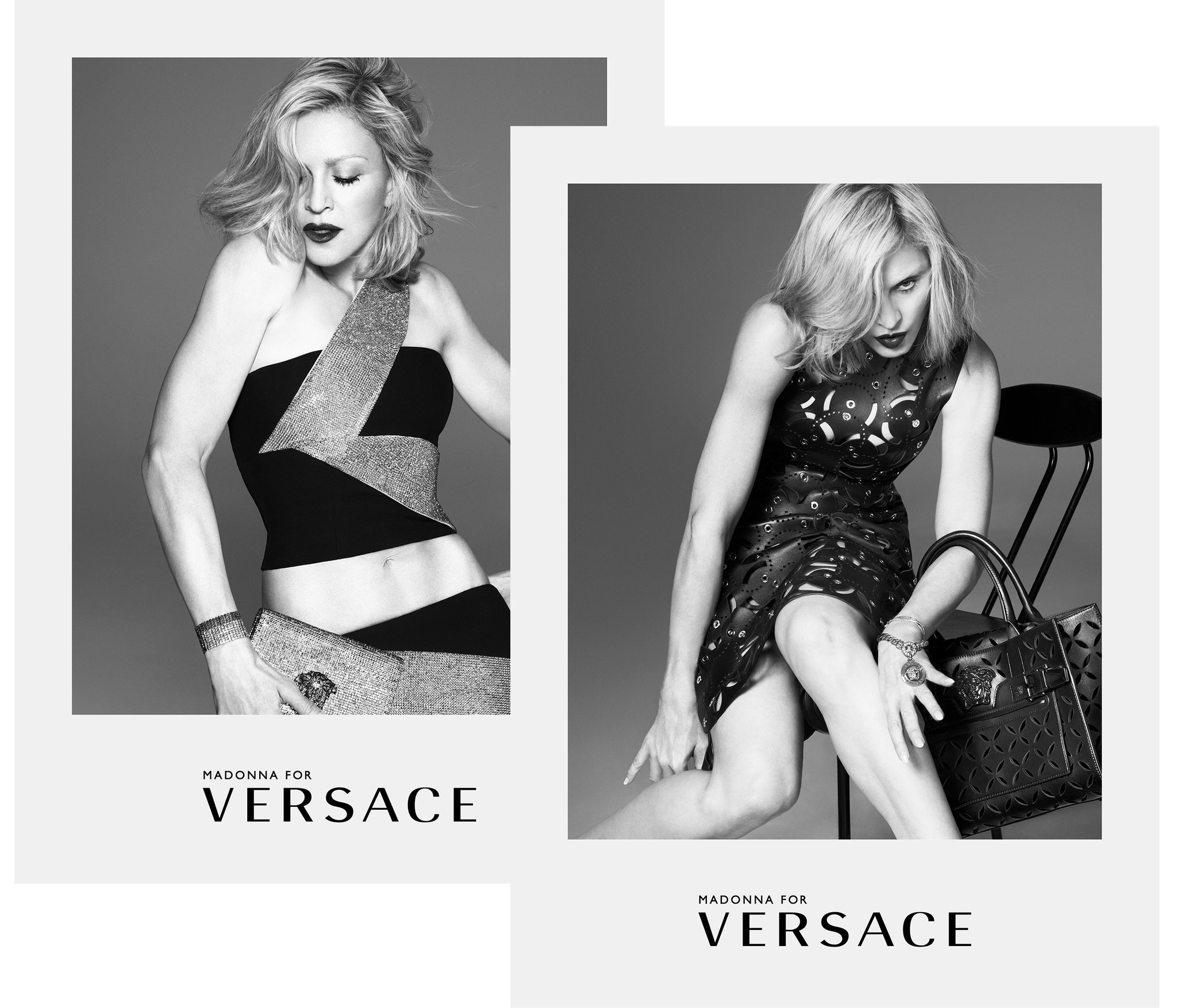361465d5b9be Madonna Stars in New Versace Ad Campaign
