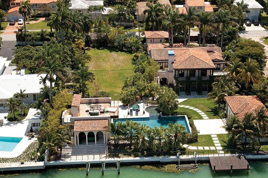 Matt Damon mansion Miami Beach