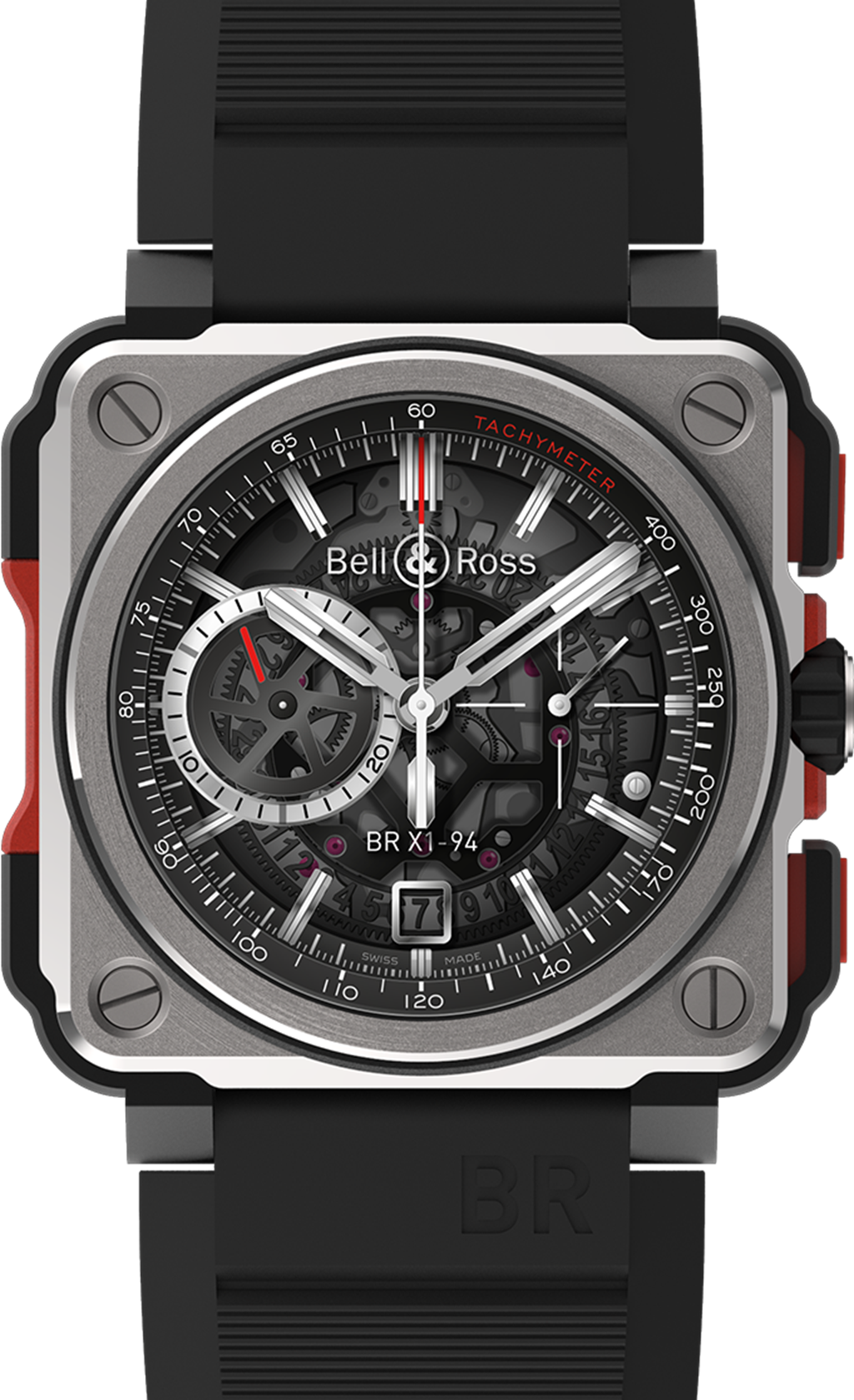 The night's highlight - the BR-X1 skeleton chronograph