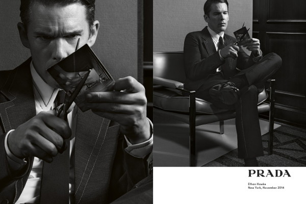 Ethan Hawke for Prada menswear