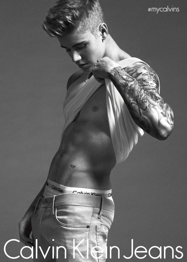 Justin Bieber calvin klein jeans