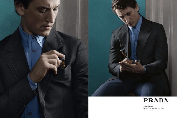 Miles Teeller for Prada menswear