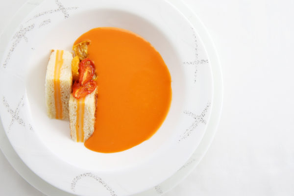 soup of slow-roasted tomatoes