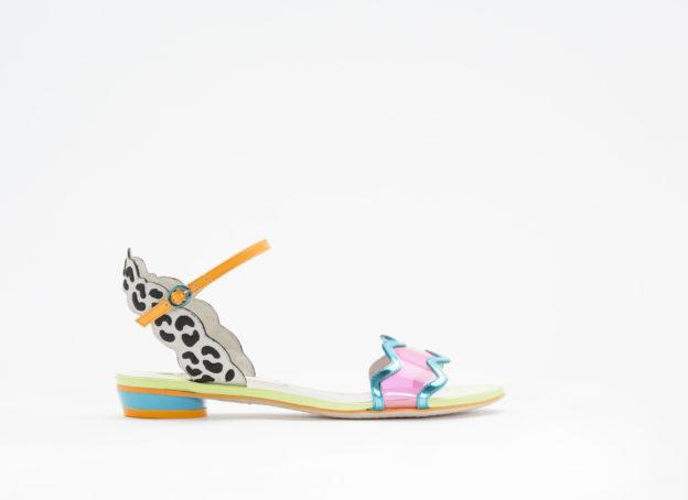 colourful flat sandal