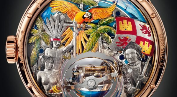 The artwork on the back of the Academy Christophe Colomb Hurricane Grand Voyage II by Zenith.