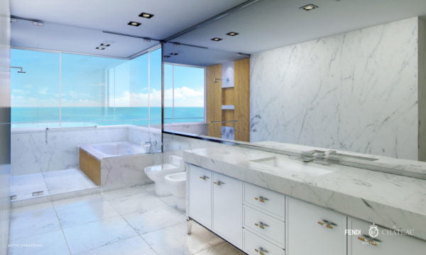 Fendi Chateau Residences Penthouse bathroom