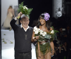ean Paul Gaultier with Naomi Campbell