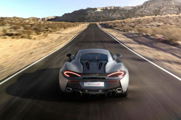 McLaren 570S Coupe grey back