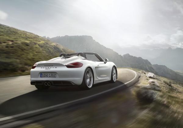 Porsche Boxster Spyder back