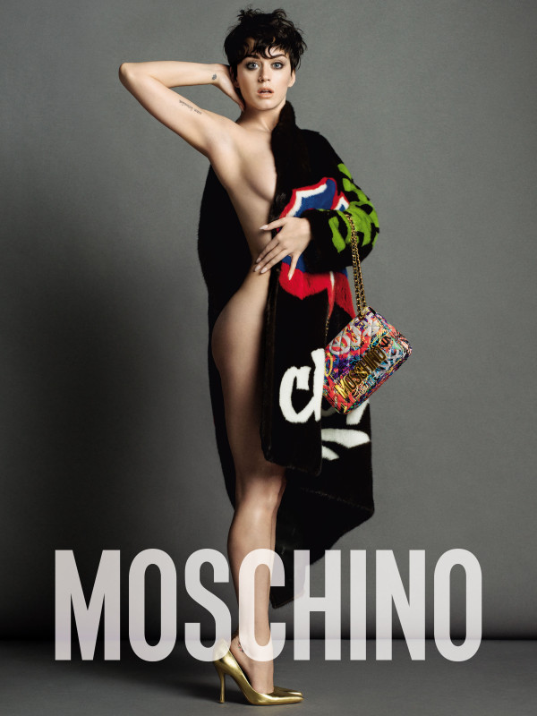 Katy Perry Gets Nude For Moschino Ad
