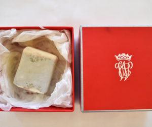 boxed slice of wedding cake