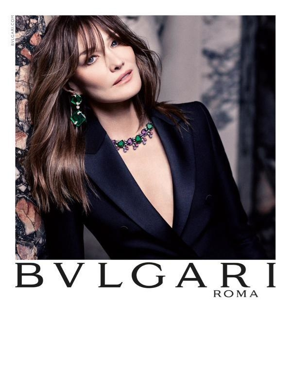 Carla Bruni Bulgari Fall Winter 2015