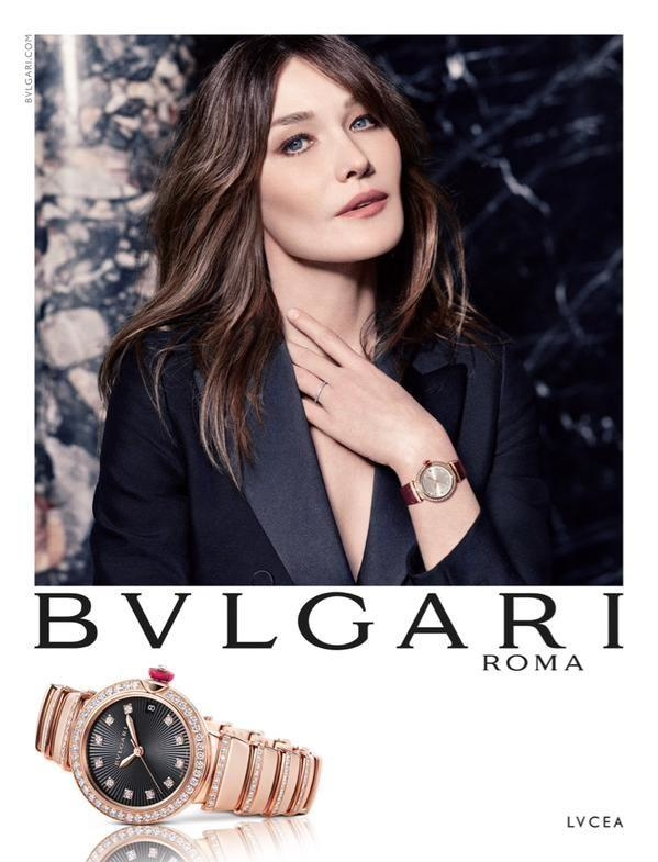 Carla Bruni Bulgari watch FW 2015