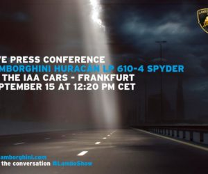Lamborghini Huracan Spyder launch invitation