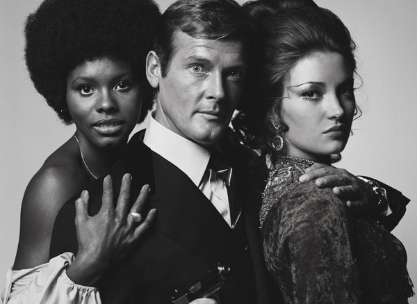 Roger Moore and his James Bond girls