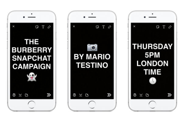 Burberry Snapchat Campaign