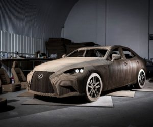 Origami Lexus IS car