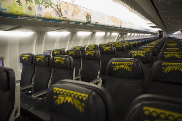 WestJet Frozen plane seats