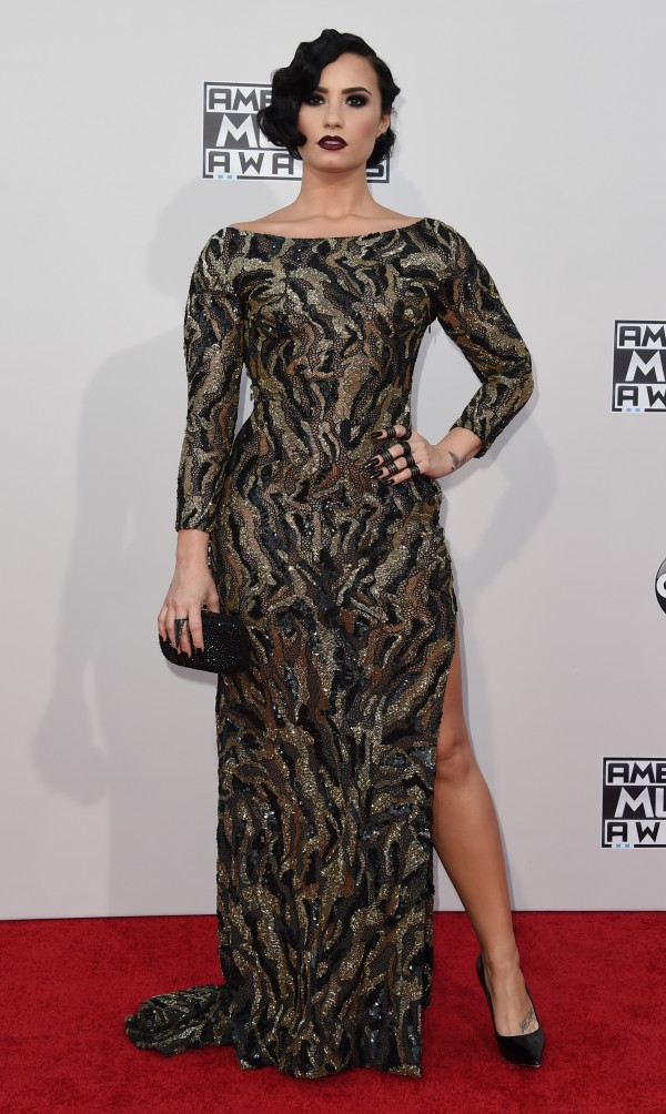 Recording artist Demi Lovato attends the 2015 American Music Awards at the Microsoft Theater at L.A. Live in Los Angeles, California, November 22, 2015. AFP PHOTO / VALERIE MACON / AFP / VALERIE MACON