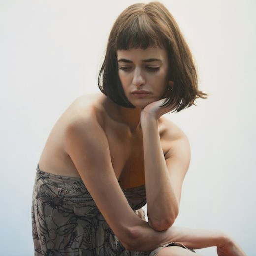 Olya, 2014, Yigal Ozeri. Oil on canvas