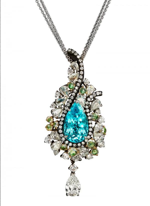 Caratell : Evolution Paraiba tourmaline necklace