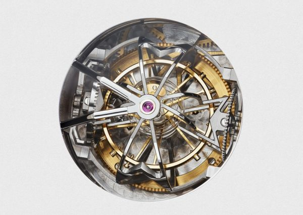 Rotating on three axes, the tourbillon carriage forms the shape of Vacheron Constantin's insignia, the Maltese cross, once every 15 seconds