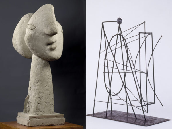 """Head of a Woman"" & ""Figure"" (proposal for a monument to Guillaume Apollinaire)."