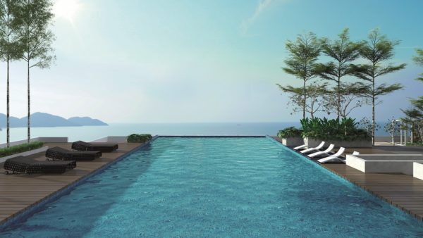 Infinity pool at The Marin overlooking the Andaman Sea
