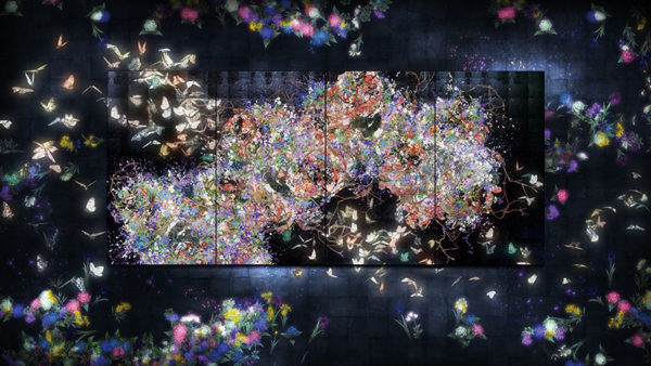 Flutter of Butterflies Beyond Borders, interactive digital installation for START Projects at Saatchi Gallery, 2015