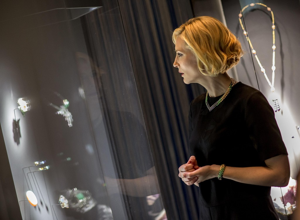 Cate viewing 'The Art & Science of Gems' exhibition at the ArtScience Museum © Allen Tan
