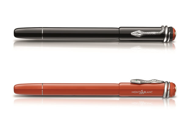 The Montblanc Heritage Edition: Rouge & Noir Special Edition Pens in Black and Coral