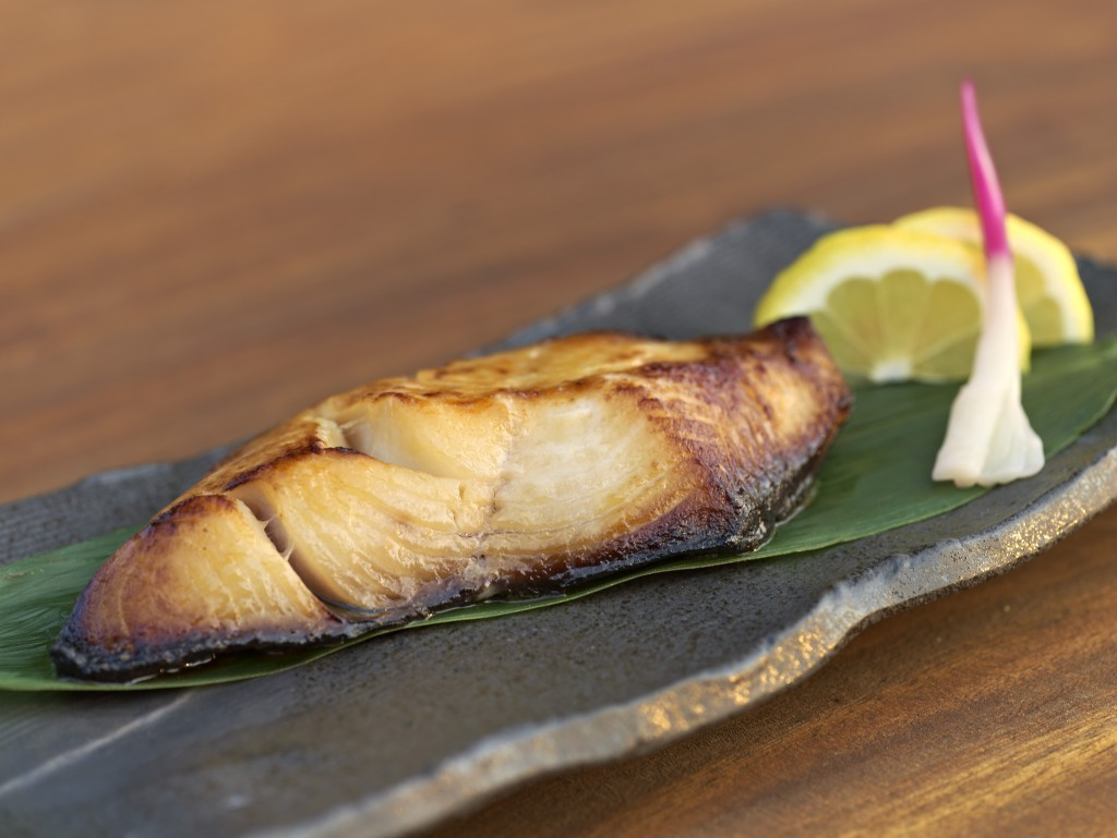 Nobu Matsuhisa's signature black cod with miso at Le Royal Monceau Paris