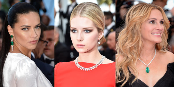Left: Adriana Lima, Lottie Moss and Julia Roberts
