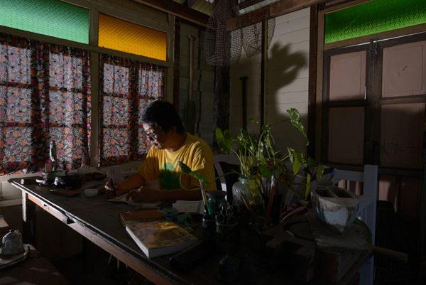 Chang Fee Ming in his studio in Mengabang Telipot.