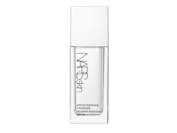 Nars Optimal Brightening Concentrate ($105) is a radiance-boosting serum but it can be used over foundation for a subtle light-reflecting finish.